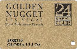Golden Nugget Casino Las Vegas - Slot Card - P665733 In Bottom Right Corner On Back - Casino Cards