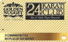 Golden Nugget Casino Las Vegas - Slot Card - P704065 Over Mag Stripe - Casino Cards