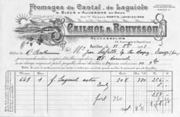 Aurillac - Fromages Du Cantal De Laguiole, Cailhol & Bouyssou, Illustrée 1923 - France