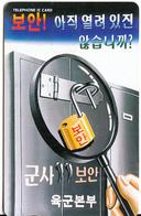 SOUTH KOREA(chip) - Army Headquarters/Military Security, Korea Telecom Telecard W3000, 08/00, Used - Korea, South