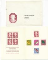 1957 Pro Juventute Dankeskärtli Mit Umschlag, Limitierte Auflage Vom Zentralsekretariat J168-J172 / 648-652 - Lettres & Documents