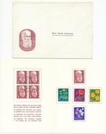 1959 Pro Juventute Dankeskärtli Mit Umschlag, Limitierte Auflage Vom Zentralsekretariat J178-J182 / 687-691 - Lettres & Documents