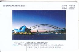 SOUTH KOREA - Night View Of World/The Opera  House-Sydney, Korea Telecom Telecard W5000, 03/04, Used - Korea, South