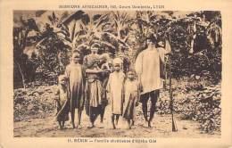 BENIN : Famille Chrétienne D'IDJEBU ODE - CPA ( Missions Africaines Cours Gambeta - LYON ) Afrique Noire - Black Africa - Benin