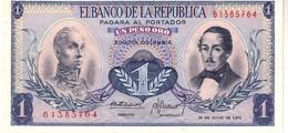 Colombia P.404 1  Pesos 1972  Unc - Colombia