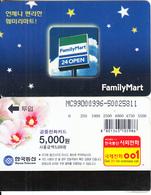 SOUTH KOREA - Family Mart, Korea Telecom Telecard(W5000), Used - Korea, South