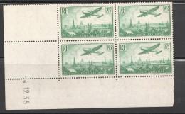 PA 8a  Vert Clair  Avion Survolant  Paris  CD 4.12.35 ** - Coins Datés