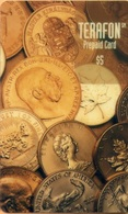 Puerto Rico - MV: PRI F20, Terafon, Remote Memory, Old Gold Coins, Thin Plastic, 1996 / ED:9/97, Used - Puerto Rico