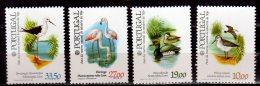 1982 Portugal -Paris 82: Birds Tejo Nat.Park 4v MNH** MI 1569/72 (bsh17) Flamingo, Duck, Storks, - Flamingo