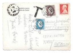 1948 Austria Pfaffenhofen Tirol Postage Due France Alpes Mar Menton Cancel Monaco - Postage Due