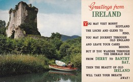 Postcard Greetings From Ireland From Derry To Bantry Bay The Beauty Of Old Ireland [ Bamforth ] My Ref  B12340 - Other