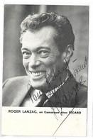 ROGER LANZAC - Autographe - Célébrités