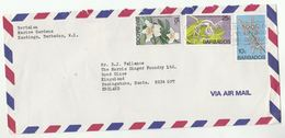 1979 Air Mail BARBADOS COVER Multi ORCHID Stamps Flower Flowers Orchids - Barbades (1966-...)
