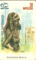 Angola - ANG-01, Rapariga Muila, Telephones, Women, 30U, 100.000ex, 8/96, Used - Angola