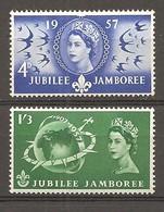 Gran Bretaña/ Great Britain Nº Yvert  303-04 (MNH/**) - 1952-.... (Elizabeth II)