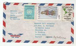 1975 Air Mail ECUADOR COVER Stamps UN  , RELIGION, EXPIGUA  To GB United Nations - Ecuador