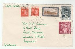 Air Mail ECUADOR COVER Stamps WORKER PROTECTION ,RELIGION, UNIVERSITY To GB - Ecuador