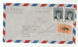 Air Mail ECUADOR COVER Stamps ANTEATER,  Alexander Von HUMBOLDT  To GB - Equateur