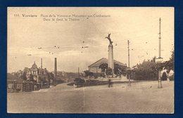 Verviers. Place De La Victoire  Et Monument Des Combattants Dans Le Fond , Le Théâtre. 1946 - Verviers