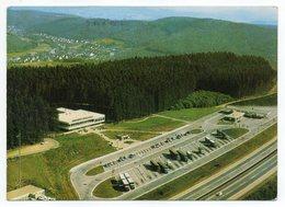 Allemagne --FREUDENBERG--1975--Vue Aérienne--Autobahn-Raststatte SIERGERLAND-OST--timbre-cachet MINDEN - Siegen