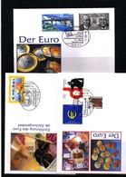 Deutschland / Germany 2002 Einfuhrung Des Euro Interessante Briefe - Monedas