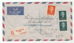 Registered NETHERLANDS ANTILLES Airmail  COVER Willemstad To GB, Stamps - Curacao, Netherlands Antilles, Aruba