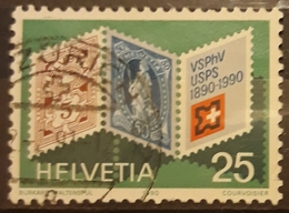 SUIZA 1990 Anniversaries. USADO - USED. - Suiza