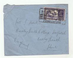 1939? FEROZEPORE INDIA Airmail To GB COVER Stamps GVI - India (...-1947)