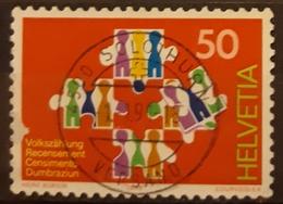 SUIZA 1990 Census. USADO - USED. - Suiza