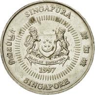 Monnaie, Singapour, 50 Cents, 1997, Singapore Mint, TTB, Copper-nickel, KM:102 - Singapour