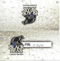 Black Bear Casino - Carlton, MN - Instruction Card For Players Club Points - Casino Cards