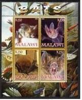 Malawi 2008 M/S Cinderella Issue Stamps Bats Bat Fauna Wild Animal Mammal Nature Mamals MNH Perforated - Bats