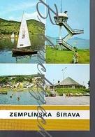 8-813 CZECHOSLOVAKIA 1984 Zemplinska Sirava Michalovce District Dam Lake Life Guard Tower Restaurant Koliba ? Tent - Scouting