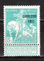 105*  Caritas Surchargée Charleroi 1911 - Bonne Valeur - MH* - LOOK!!!! - 1910-1911 Caritas