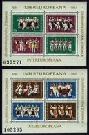 Rumänien Romanal 1981 - Volkstanz - MiNr Block 178+179 !3784-3791) - Tanz