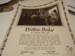ANCIENNE PUBLICITE PATHE BABY LA CINEMATHEQUE 1923 - Photography
