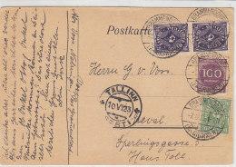 Karte Aus GRAMMENDORF (Kr.Grimmen) 7.6.23 Nach TALLIN / Estland - Karte War Gefaltet - Briefe U. Dokumente