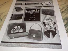 ANCIENNE PUBLICITE  HERMES CADEAUX 1940 - Bijoux & Horlogerie