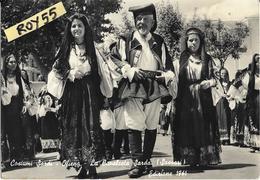 Sardegna-nuoro-oliena La Cavalcata Sarda 1961 Costumi Sardi Animatissima - Altre Città