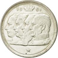 Monnaie, Belgique, 100 Francs, 100 Frank, 1951, TTB, Argent, KM:139.1 - 09. 100 Francs