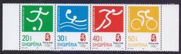 ALBANIA 2008 - Beijing Olympic Games, Sports, Complete Set Strip, MNH - Summer 2008: Beijing