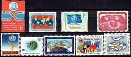 UNITED NATIONS # NEW YORK FROM 1961 STAMPWORLD 98-106* - Nuevos