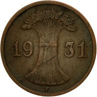 Monnaie, Allemagne, République De Weimar, Reichspfennig, 1931, Stuttgart, TTB - 1 Rentenpfennig & 1 Reichspfennig
