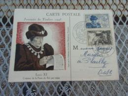 FRANCE (1945) Journée Du Timbre PARIS , LOUIS XI - Cartes-Maximum