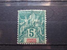VEND BEAU TIMBRE DE GRANDE COMORE N° 4 , X !!! - Neufs