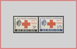 Bermuda 1963 - Cat. 181/82 (MNH **/os) Croce Rossa - Red Cross (leggera Ossidazione) (010920) - Bermuda