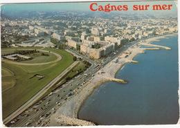 Cagnes-sur-Mer - Cros De Cagnes: VOITURES, CARAVAN, AUTOBUS - Vue Aérienne - Bd De La Plage - (France) - Passenger Cars