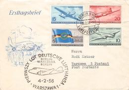 DDR - BRIEF 1956 LUFTVERKEHR Mi #515-515 - DDR