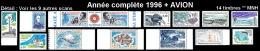 TAAF Année Complète 1996 + AVION - Yv. 203 à 212 + PA 137 à 140 ** MNH SUP  - 14 Timbres  ..Réf.TAF20911 - Terres Australes Et Antarctiques Françaises (TAAF)