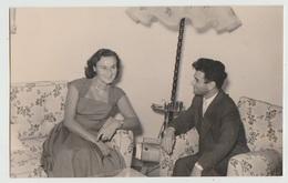 COPPIA FIDANZATI AMORE  FOTOCARTOLINA 1954 - Coppie